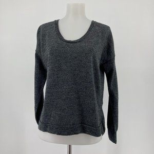 Madewell Top Long Sleeve Merino Wool Pullover Gray